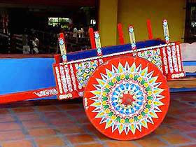 Costa Rica Oxcart, symbol of Costa Rica