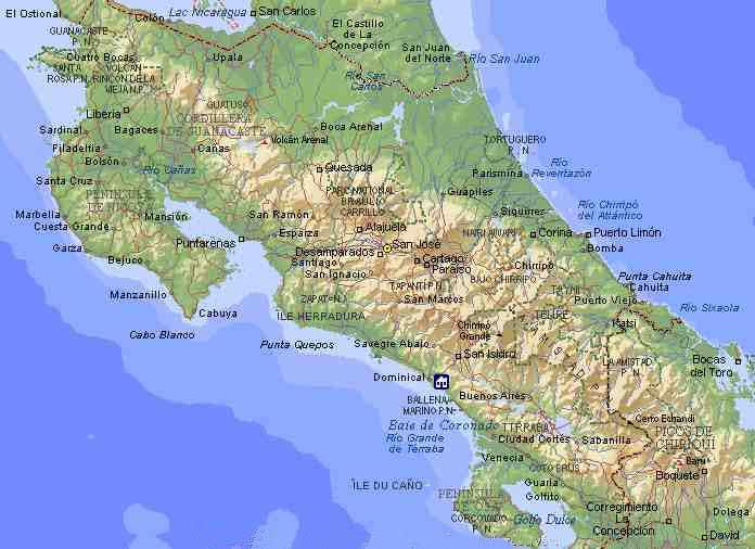 Maps Of Costa Rica