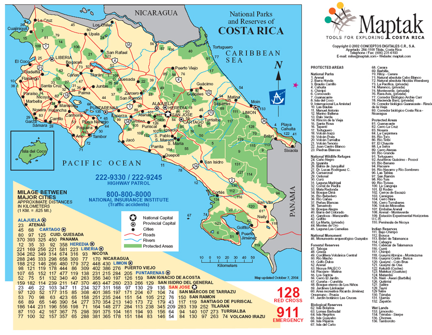 Maps of Costa Rica