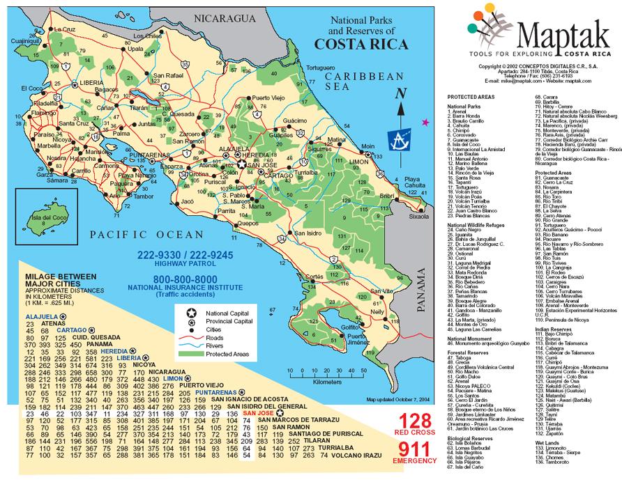 Maps Of Costa Rica - Map of costa rica