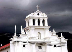 Church in Escazu Cista Rica - Storm Coming